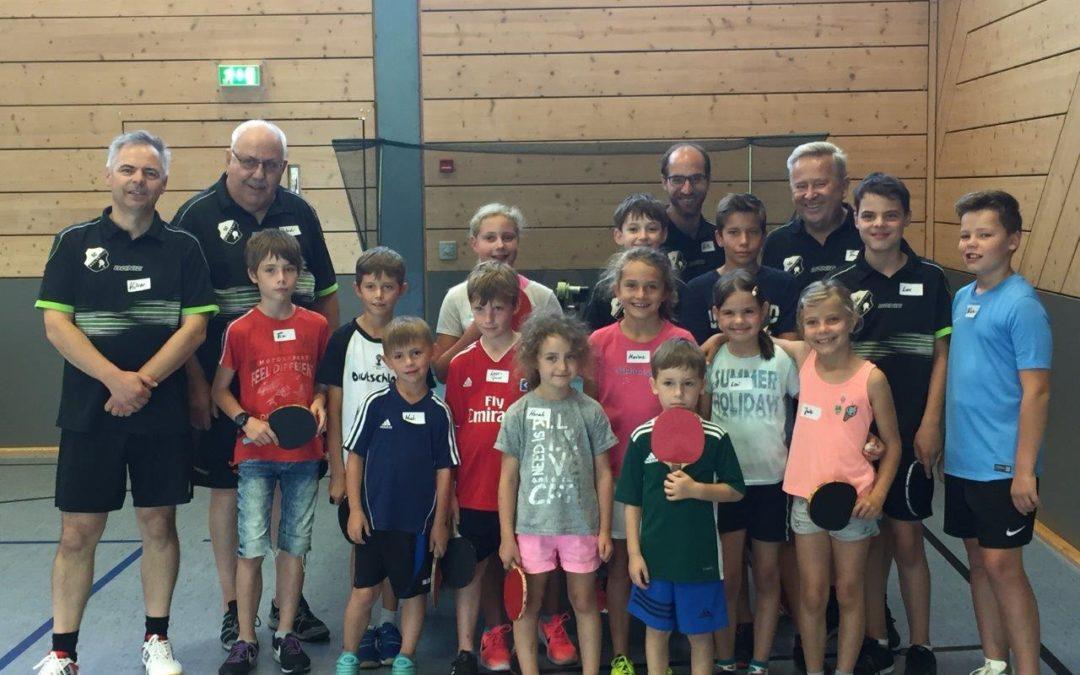 Ferienprogramm Tischtennis 2019